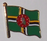 Dominica Country Flag Enamel Pin Badge